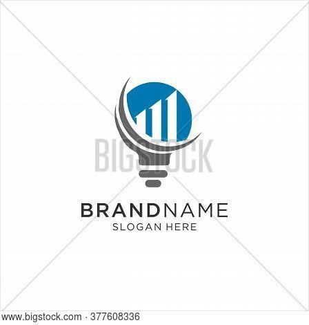 Business Finance Bulb Shape Concept Logo Template Vector Icon Design. Finance Logo. Economy Finance