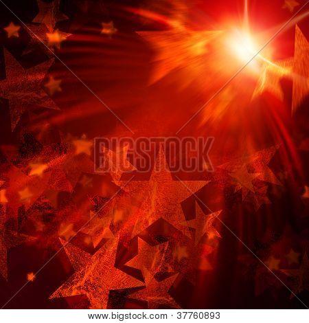 Orange Stars With Lights