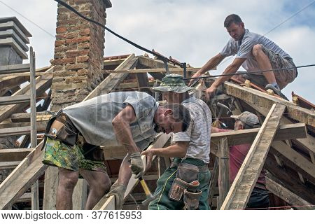 Work On The Roof Of The House