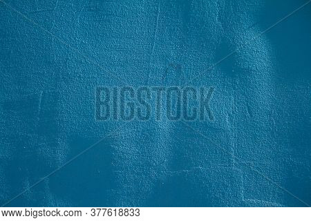 Abstract Grunge Decorative Navy Blue Dark Stucco Wall Background. Art Texture Banner With Space For