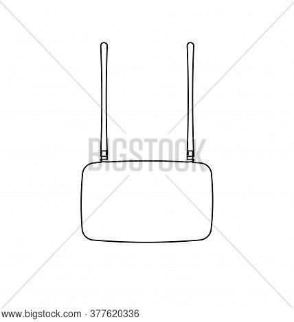 Wi-fi. Continuous Line Vector Illustration. Wi-fi Router One Line Illustration. Internet Connection.