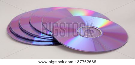Toppled Pile of Blank Cd's or DVD's