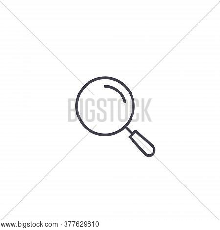 Magnifier Icon. Magnifying Glass Tool Symbol. Search Icon Vector Isolated Illustration.