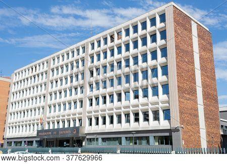Burgos, Spain - July 22 - 2020: Treasury Delegation In Burgos On A Summer Day