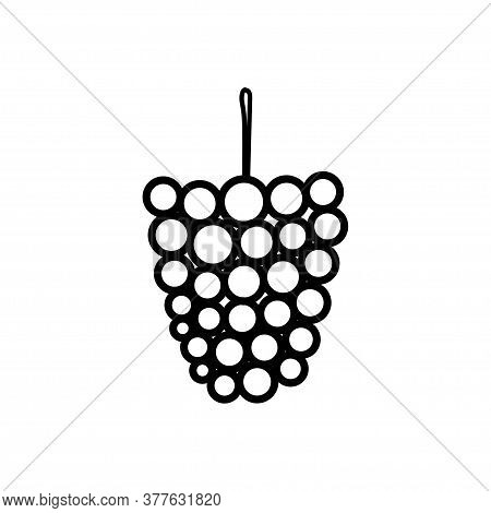 Mulberry Line Icon Isolated On A White Background