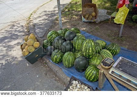 Street Watermelon Sale