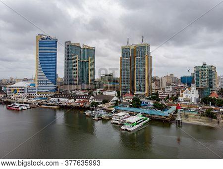 Dar Es Salaam, Tanzania - 10 February 2020: Aerial View On Marina Of Dar Es Salaam City In Tanzania