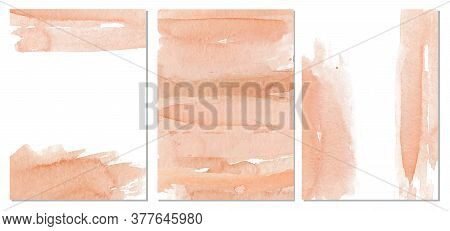 Watercolor Abstract Pink Background, Hand Drawn Watercolour Classic Texture Vector Illustration