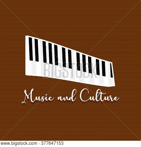 Musical Keyboard Image. Musical Instrument - Vector Illustration