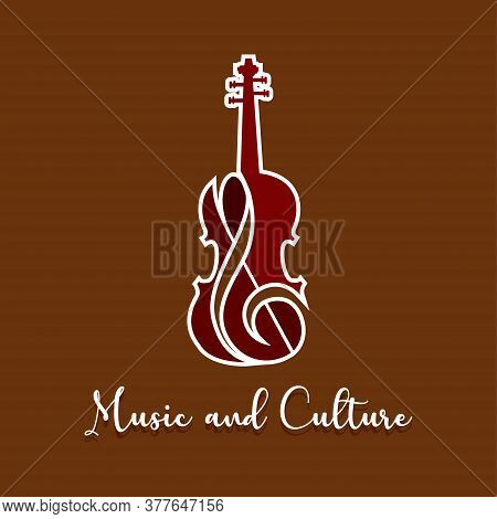 Classic Violin Image. String Musical Instrument - Vector