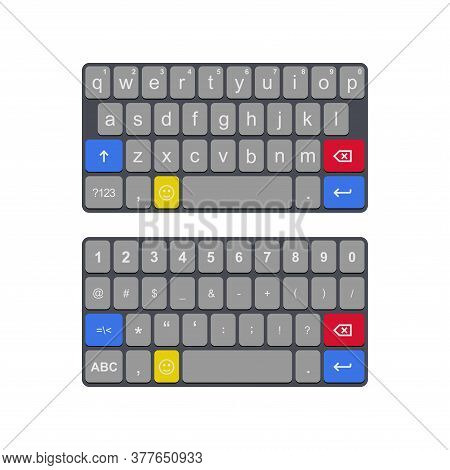 Illustration Of Vector From A Virtual Keyboard. Suitable For Design Elements Of Software, Text Input