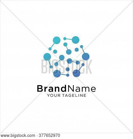 Circle Tech Logo Template,advanced Analysis Data Base Logo Symbol. Development Of Artificial Intelli