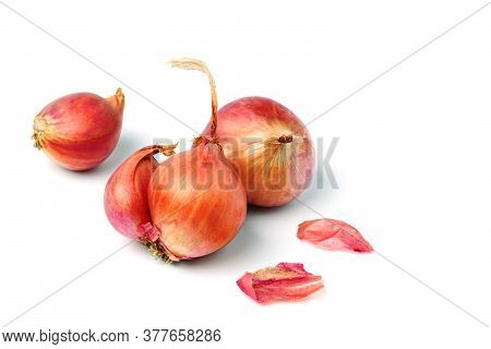 Shallot Put Together As A Group Small And Large With Slice And Spices Cooking Shallot Fresh From The