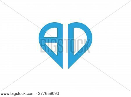 Letter Bd Logo Design With Creative Modern Trendy With Love Shape