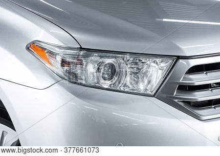 Novosibirsk/ Russia - April 28 2020: Toyota Highlander, Close Up Of The Car Detailing: Beauty Clean