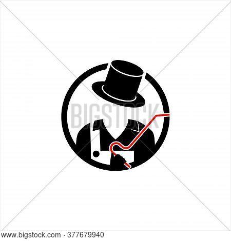 Modern Fun Black Mascot Idea For Dent Repair Logo Design Idea