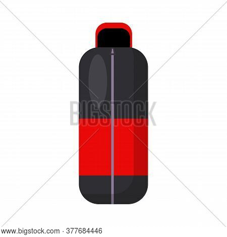 Trekking Flask. Thermos, Thermal Mug, Drink, Can, Canteen. Illustration Can Be Used For Topics Like