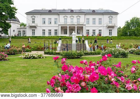 Palanga, Lithuania - July 5 2020: Amber Museum In Palanga, Lithuania, View From The Garden With Flow