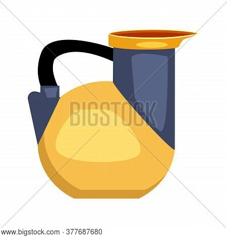 Ancient Greek Askos Flat Icon. Incense, Oil, Pottery Vessel. Greek Vases Concept. Illustration Can B