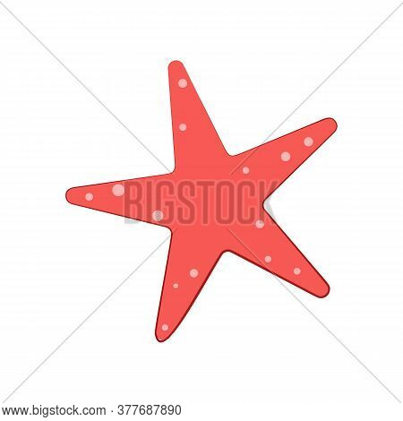Red Starfish Illustration. Mollusc, Ocean, Decoration. Nature Concept. Illustration Can Be Used For
