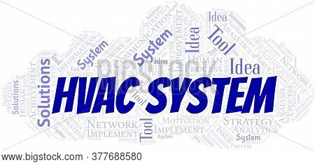 Hvac System Typography Vector Word Cloud. Wordcloud Collage Made With The Text Only.