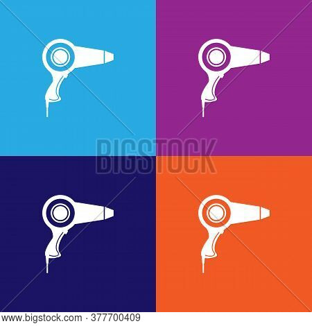 Hair Dryer Icon. Bathroom And Sauna Element Icon. Signs, Outline Symbols Collection Icon For Website