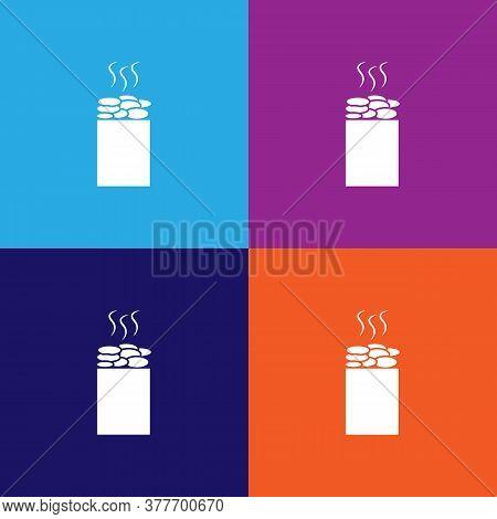 Sauna Stones Icon. Bathroom And Sauna Element Icon. Signs, Outline Symbols Collection Icon For Websi
