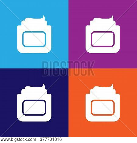 Bank Of Cream Icon. Bathroom And Sauna Element Icon. Signs, Outline Symbols Collection Icon For Webs