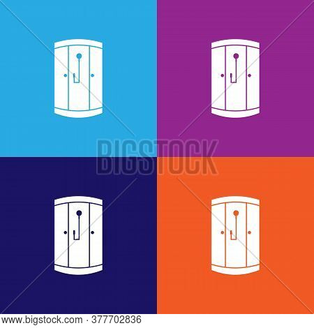 Shower Cabin Icon. Bathroom And Sauna Element Icon. Signs, Outline Symbols Collection Icon For Websi