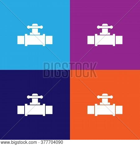Valve Icon. Bathroom And Sauna Element Icon. Signs, Outline Symbols Collection Icon For Websites, We