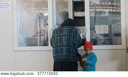 Aleppo, Syria 24 November 2019:\nmedical Clinic Reviewers In Refugee Camps Take Medication Free Of C