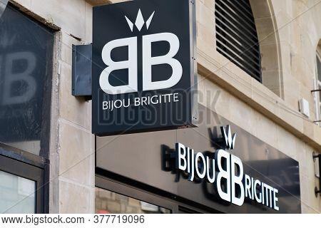Bordeaux , Aquitaine / France - 07 21 2020 : Bijou Brigitte Text Logo Sign Of Store Fashion Jeweller