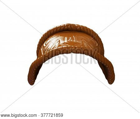 Helmet, Saddle, Whip For Riding Isolated On White Background. 3d Rendering.