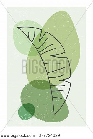 Minimalist Poster With Abstract Organic Shapes Composition