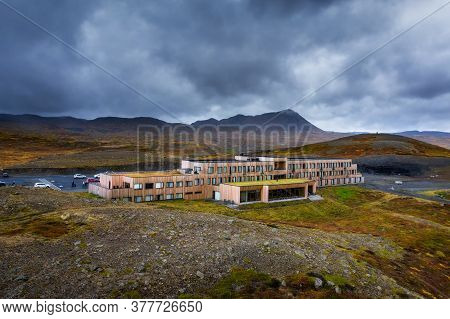 Myvatn, Iceland - September 10, 2019 : Fosshotel Myvatn With A Restaurant, A Four-star Hotel In Skut