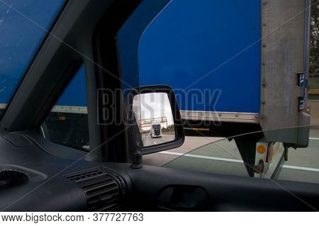 Truck Driving On A Motorway, Transportation Of Goods On The Street