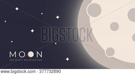 moon . moon banner . moon background . abstract moon illustration . moon background . beautiful moon view at the night . full moon illustration . moon illustration vector . moon images . vector illustration
