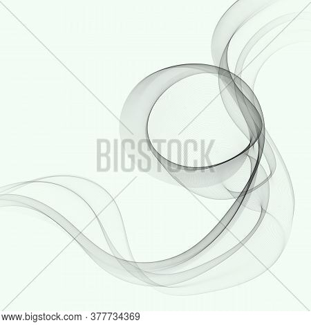 Futuristic Abstract Background With Smooth Line Modern Gray Layout. Gray Wave Flow