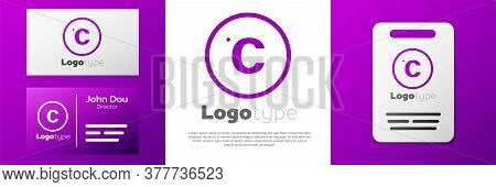Logotype Celsius Icon Isolated On White Background. Logo Design Template Element. Vector