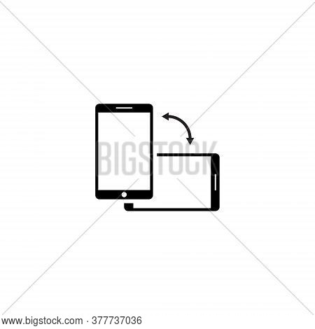 Rotate Smartphone Icon Vector In Trendy Style. Turn Screen Symbol Illustration