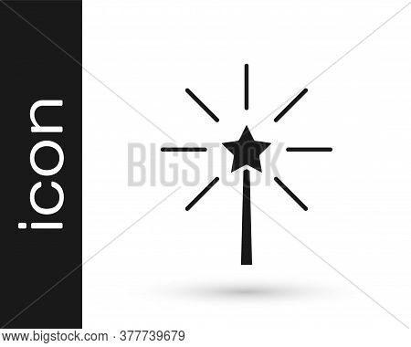 Black Firework Icon Isolated On White Background. Concept Of Fun Party. Explosive Pyrotechnic Symbol