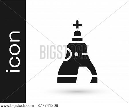Black The Tsar Bell In Moscow Monument Icon Isolated On White Background. Vector