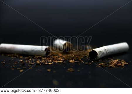 Broken Cigarettes And Ash Are Harmful For Everyone