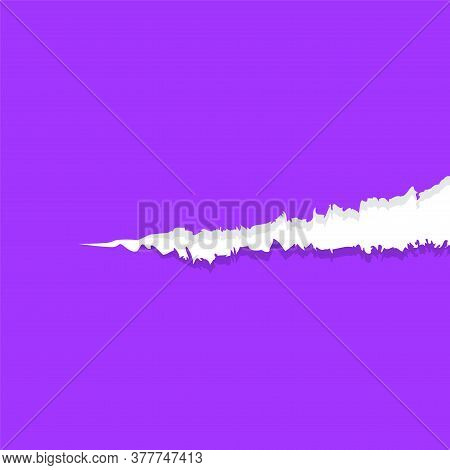 Paper Purple With Tear Marks For Banner Copy Space, Paper Rip Torn Purple Square Background, Paper W