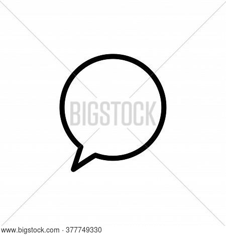 Illustration Vector Graphic Of Bubble Speech Icon Template