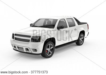 Generic Unbranded Truck Car Isolated, 3d Illustration