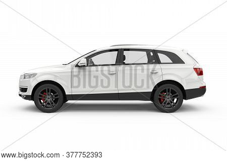 Big Generic Unbranded City Car, Mockup, 3d Illustration