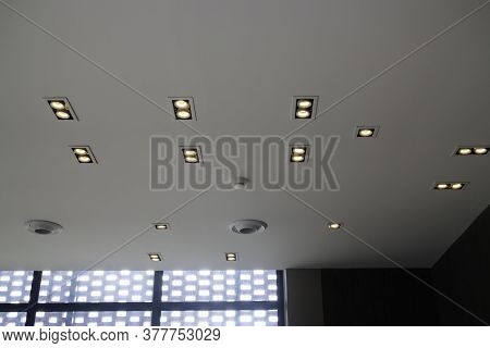 Cabin Interior Of High Ceiling, Stock Photo