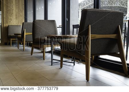 Interior Of A Small Cafe, Stock Photo
