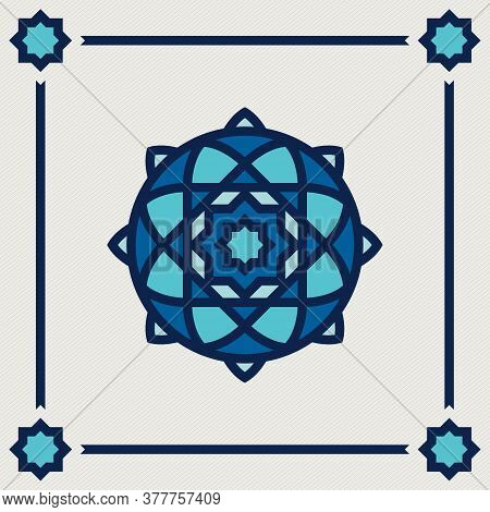 islamic oriental, geometric motif. traditional islamic, arabic, persian and ottoman design vector illustration